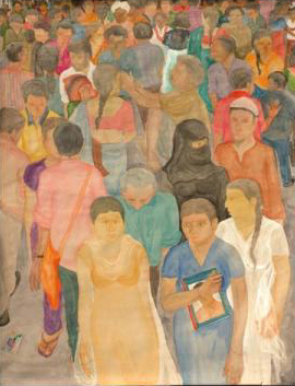 Painting by : G Mahesh / Crowd